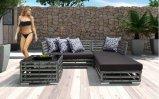 Hotel-Garten-Rattan-Patio-Möbel für im Freien und Innen