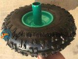 Rodas pneumáticas coloridas usadas no trole