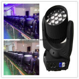 19*12W RGBW 4 em 1 luz principal movente do diodo emissor de luz do zoom de Beam&
