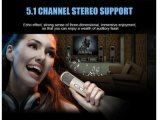 Microfono senza fili di Bluetooth per karaoke