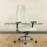 Cadeira elevada do escritório traseiro do giro executivo de couro justo do cantão
