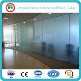 vidro ácido desobstruído da porta do vidro geado de 10mm com tamanho 3300X2140mm