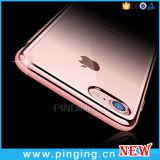 Caja Electroplated cristalina del teléfono de TPU para el iPhone 7/6 más