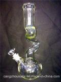 "12 "" humidificateur en verre de cigare de la pipe de fumage de Borosilicate de Perc de quarte épaisse A026"