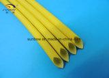 El envolver de alta temperatura revestido de la fibra de vidrio del silicón de la funda de la fibra de vidrio del caucho de silicón