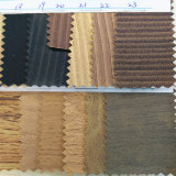 Quente-Vendendo o couro do plutônio do Wood-Grain para as sapatas ou os sacos (HS-M037)