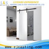 Популярная продавая застекленная деревянная дверь с оборудованием