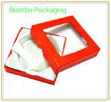 Boîte-cadeau professionnelle de papier de carton avec le guichet de PVC