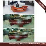 (HX-5N428)マホガニーカラーレセプションのカウンター表の木のメラミンオフィス用家具