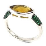 I monili CZ dell'argento sterlina dei monili 925 di modo squillano l'anello unico dell'argento di disegno (R10123)
