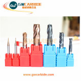 Carbide Ball Nose Square End Mill com 4 flautas