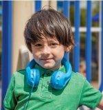 子供(OG-K100)のための取り外し可能なサイズ調節装置の金庫によって限定される赤いワイヤーで縛られた子供のヘッドホーンボリューム