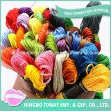 Linha trançada de tecelagem por atacado do algodão de matéria têxtil bordado de seda