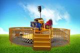 La nuova macchina da corsa di arrivo 2017 gira intorno i giri del parco di divertimenti
