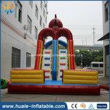Diapositiva de agua inflable con la piscina de agua, Waterslide comercial de los alquileres para la diversión