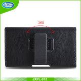 Caja universal del teléfono del bolso de la cubierta del cuero de la PU de la cintura del clip de la correa de Hoster de la bolsa para el iPhone 7