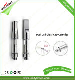Cartuccia della nuova E della sigaretta di Ocitytimes cartuccia 0.5ml Cbd del vaporizzatore/penna di vetro vuote di Vape olio di Cbd