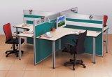 Partition en bois en verre en aluminium moderne de bureau de poste de travail de compartiment (NS-NW167)