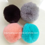 Vente en gros Coloré Rex Rabbit Fur POM Poms pour Key Chain