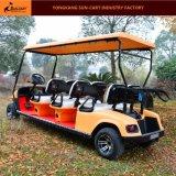 Sechs Passagier-elektrische Golf-Karren-elektrische Fahrzeuge