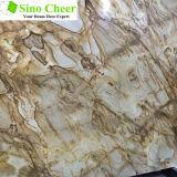 Marbre de vente chaud d'Alibaba Brown, brame de marbre de Brown de forêt humide