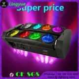 Caliente 8x10W RGBW LED 4en1 Disco DJ Haz Cabeza Móvil Efecto Ligero