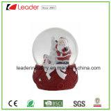 Nueva estatuilla de Santa del globo del agua de los regalos de Polyresin para la decoración casera y los regalos promocionales