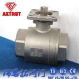 Vávula de bola del acero inoxidable 2PC con el postizo de montaje ISO5211