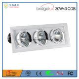 Indicatore luminoso della griglia delle Tre-Teste LED della PANNOCCHIA 30W 3 di Bridgelux con 3 anni di garanzia