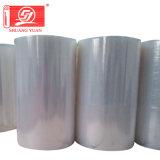 rolo transparente do PVC do rolo do envoltório do rolo enorme de 50kg LLDPE