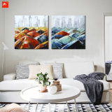 Umbrella Wall Art Street Scene Oil Painting