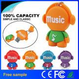 Heißer Verkaufs-Karikatur Musik-Mann USB-grelle Platte