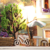 Modèle neuf DIY miniature avec des Chambres de poupée de bidon de lumière et de meubles