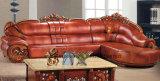 Sofá moderno de la sala de estar clásica de madera (UL-NS160)