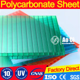 лист поликарбоната 8mm прозрачный с UV парником предохранения