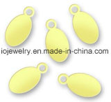 Placa de encargo oval accesoria de la insignia de la pulsera pequeña