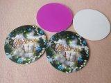 Coaster do Natal da borracha de silicone do OEM para o presente da promoção
