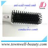 Rápidos profissionais aquecem acima a escova de cabelo elétrica com pente de alumínio