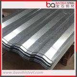 Hoja de acero galvanizada acanalada del material para techos, placa