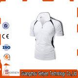 T-shirts secs de polo d'ajustement de sublimation de teinture d'élastance