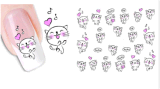 Etiqueta provisória do prego de transferência da água do gato encantador da decoração de DIY