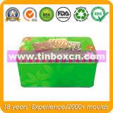, 건빵 양철 깡통 포장하는, 정연한 음식 주석 과자 주석 상자