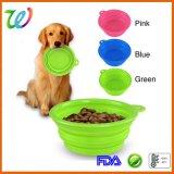 De draagbare Opvouwbare Plastic Kom van de Hond van het Silicone van de Ring Kleine