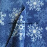 雪プリントが付いているAntipillingの北極の羊毛