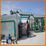 A máquina da destilação de vácuo com petróleo de motor do desperdício do preto recicl o sistema