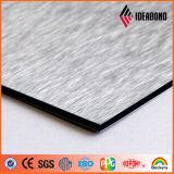 Placa de aluminio del color de la pared de cortina (series aplicadas con brocha)
