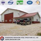 Taller prefabricado de la granja de la estructura de acero con experiencia rica