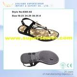 Вскользь открытые сандалии девушки PVC пальца ноги, самые последние в стиле фанк сандалии малышей для девушок