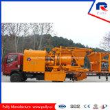 Pompa per calcestruzzo montata camion con il miscelatore forzato