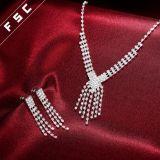 Conjuntos cristalinos de la joyería de las borlas de los complementos para la boda